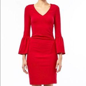 Nicole Miller Bell Sleeve Dress